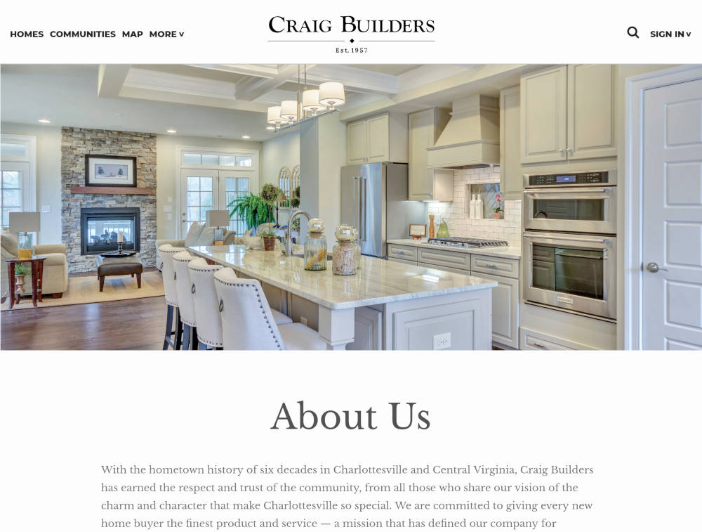Craig Builders About Page